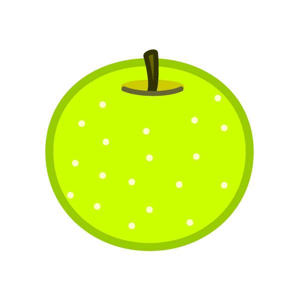 ソフトタッチでかわいい梨の無料イラスト・商用フリー