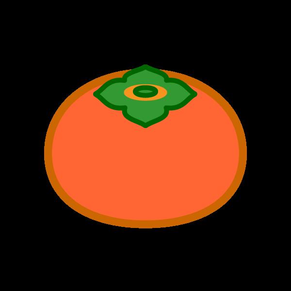 ソフトタッチでかわいい柿の無料イラスト・商用フリー