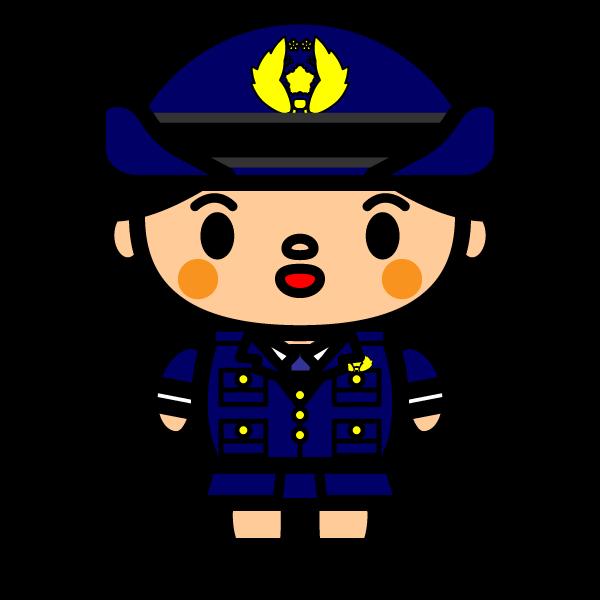 かわいい婦人警官の無料イラスト・商用フリー
