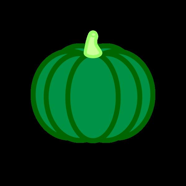 ソフトタッチでかわいいかぼちゃの無料イラスト・商用フリー