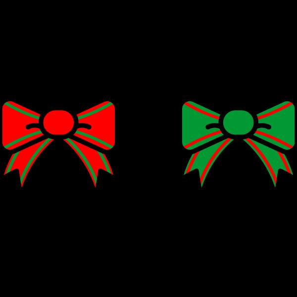 かわいいクリスマス・リボンの無料イラスト・商用フリー