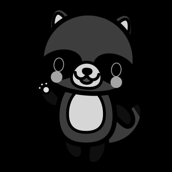 tanuki_enjoy-monochrome