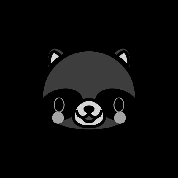 tanuki_face-monochrome