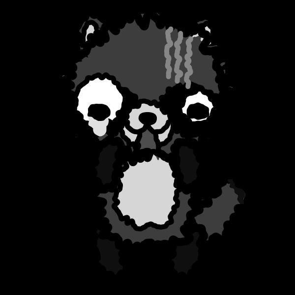 tanuki_fear-monochrome