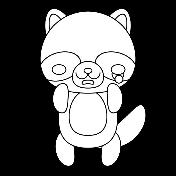 tanuki_sad-blackwhite