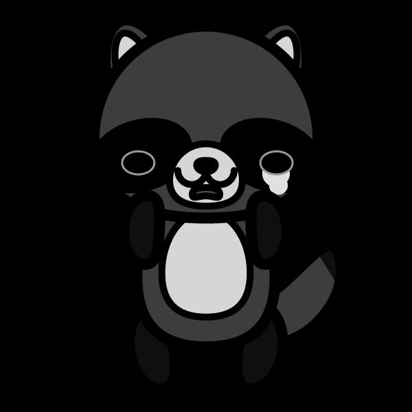 tanuki_sad-monochrome