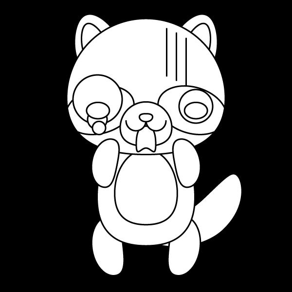 tanuki_shock-blackwhite