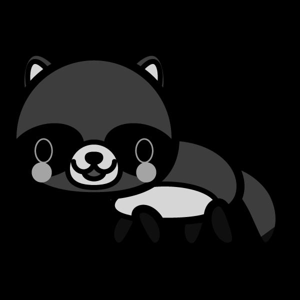 tanuki_side-monochrome