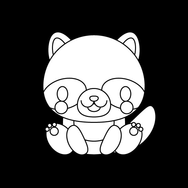 tanuki_sit-blackwhite