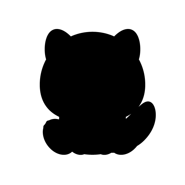 tanuki_sit-silhouette