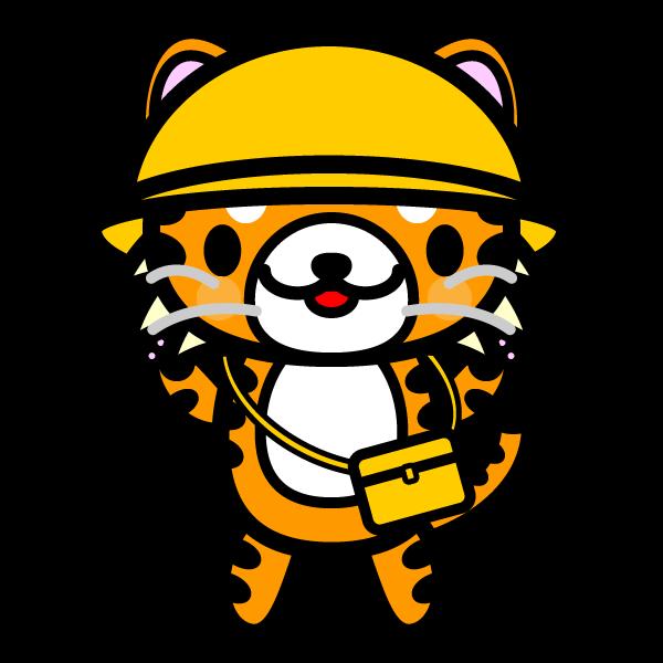 かわいい保育、幼稚園児・虎の無料イラスト・商用フリー