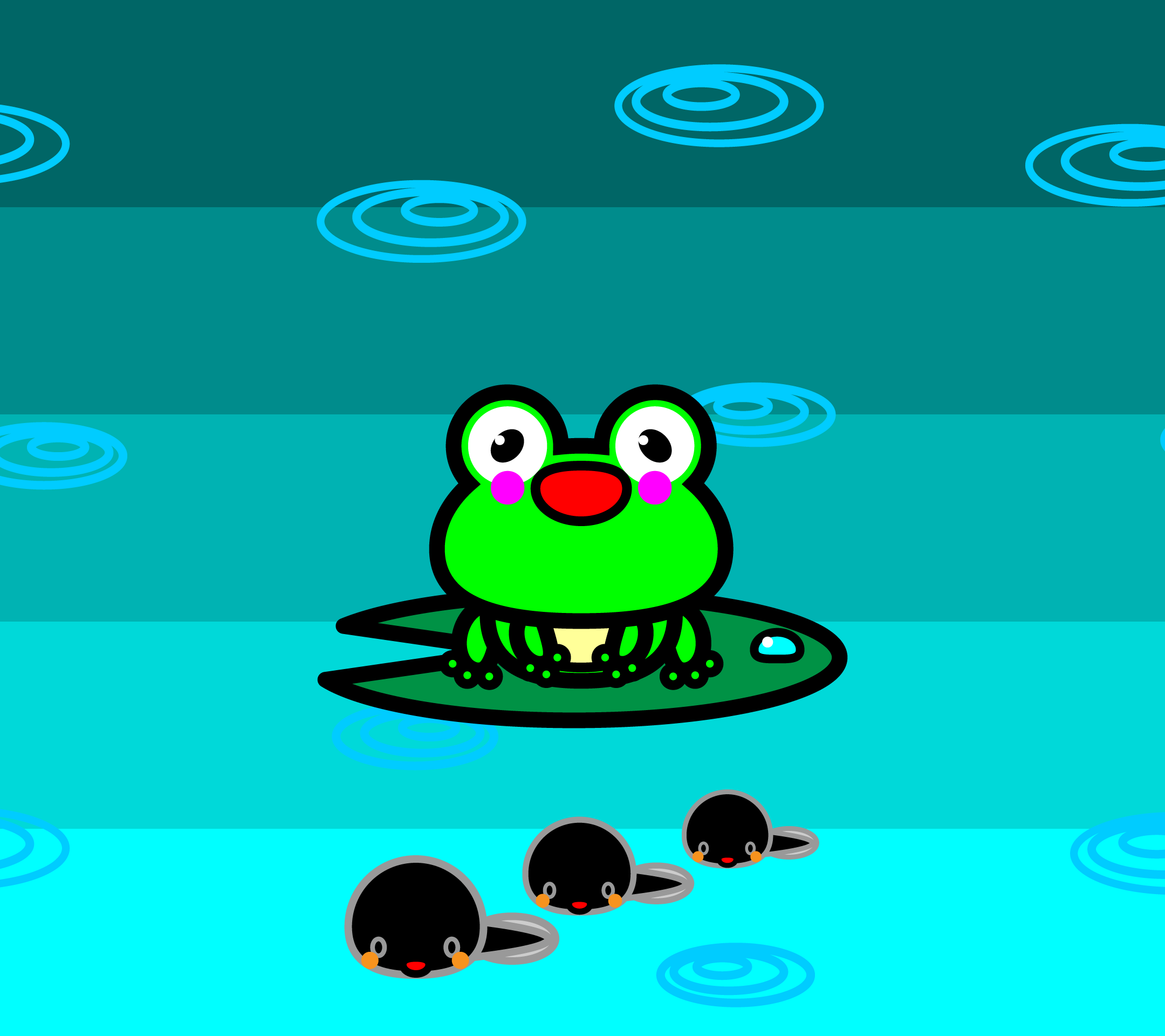 wallpaper1_frog-tadpole-android