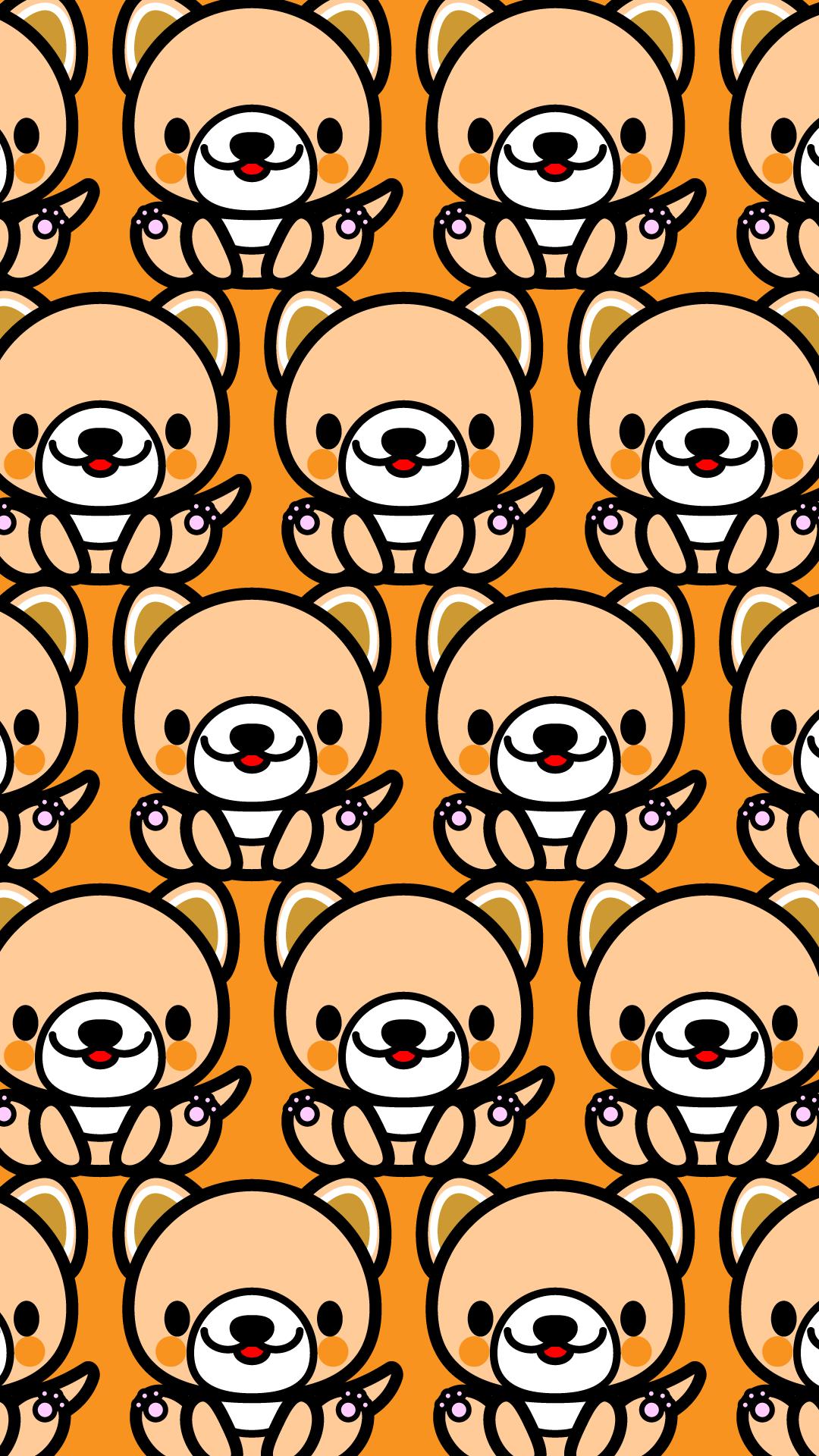 かわいい座り犬づくし・壁紙(iPhone)の無料イラスト・商用フリー