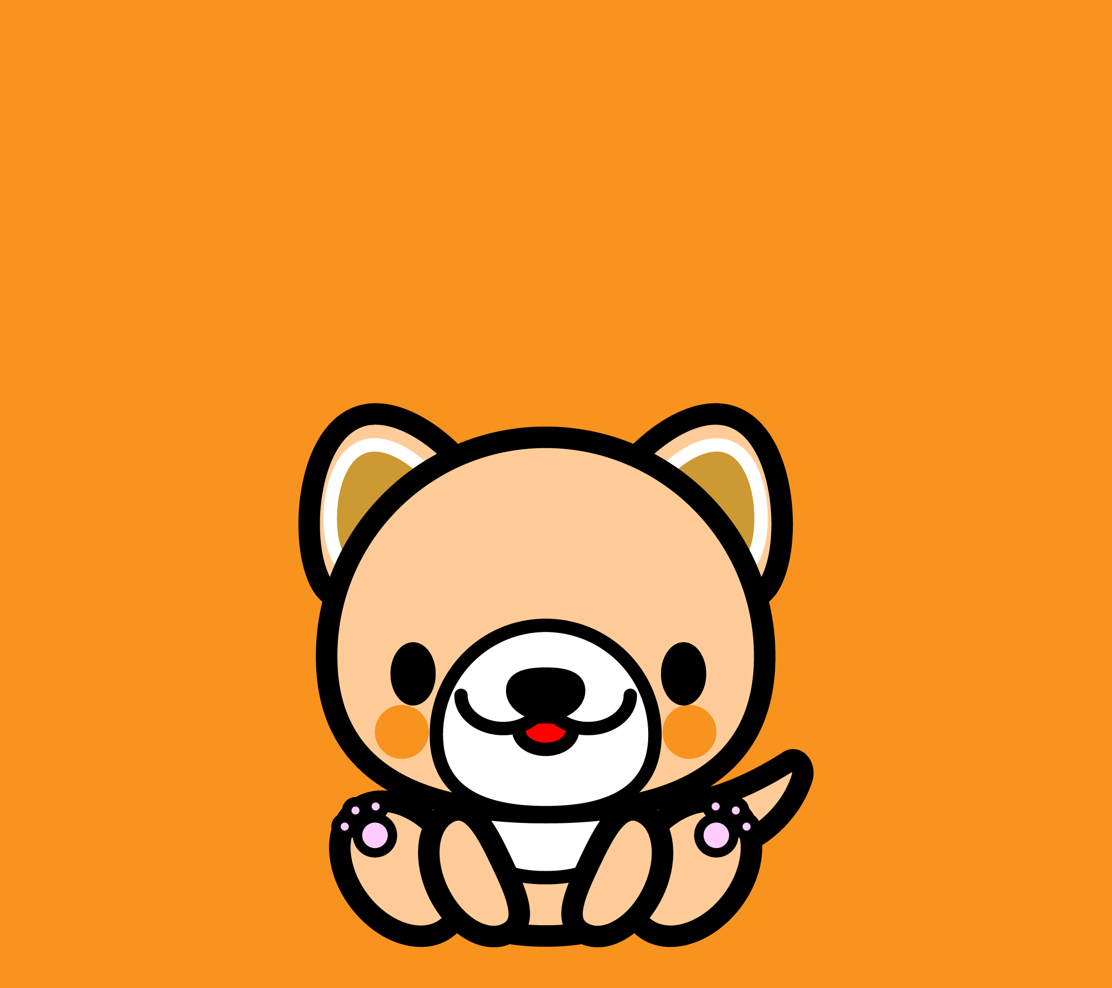 wallpaper1_sitdog-orange-android