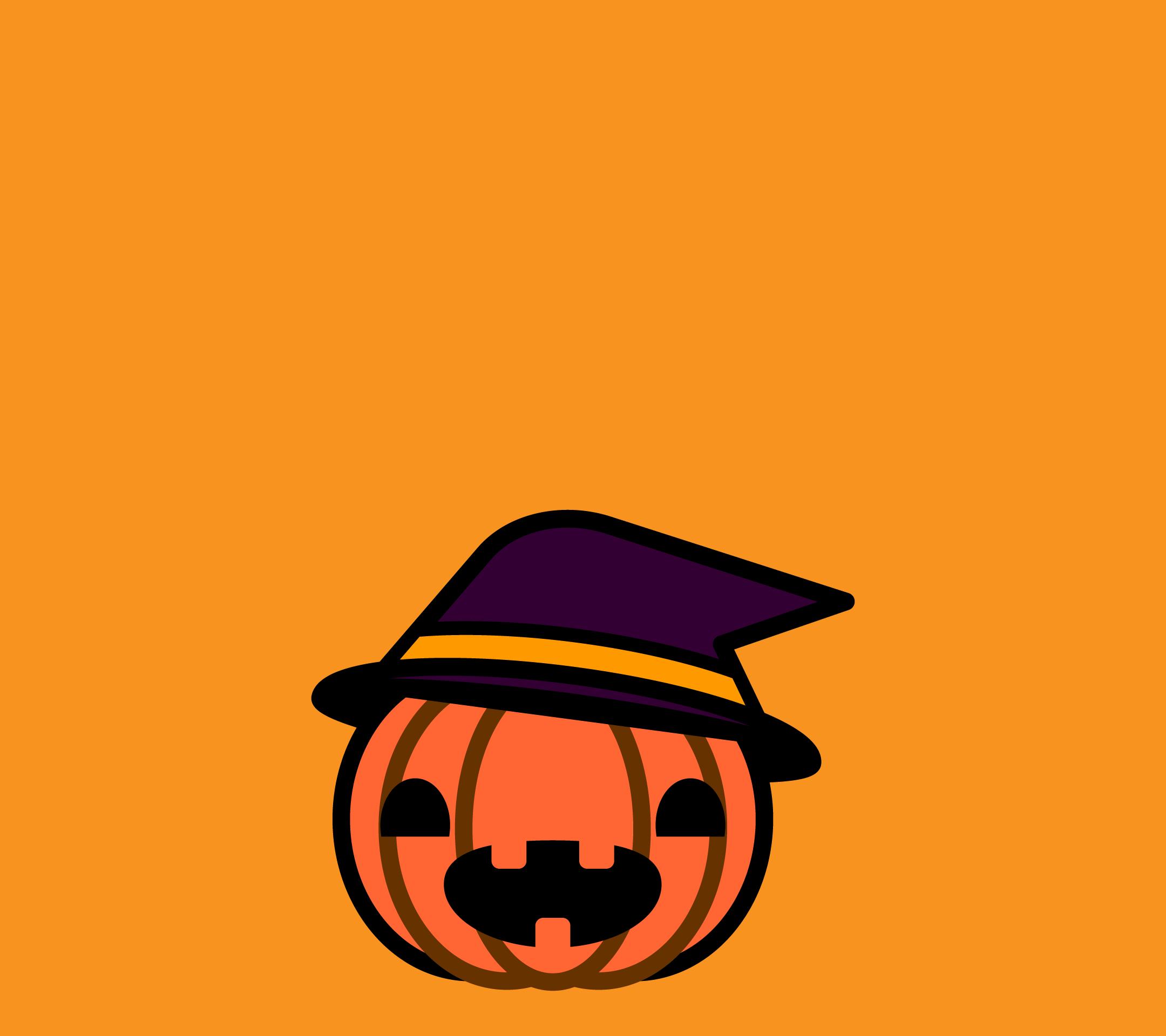 かわいいハロウィンかぼちゃ3壁紙(Android)の無料イラスト・商用フリー