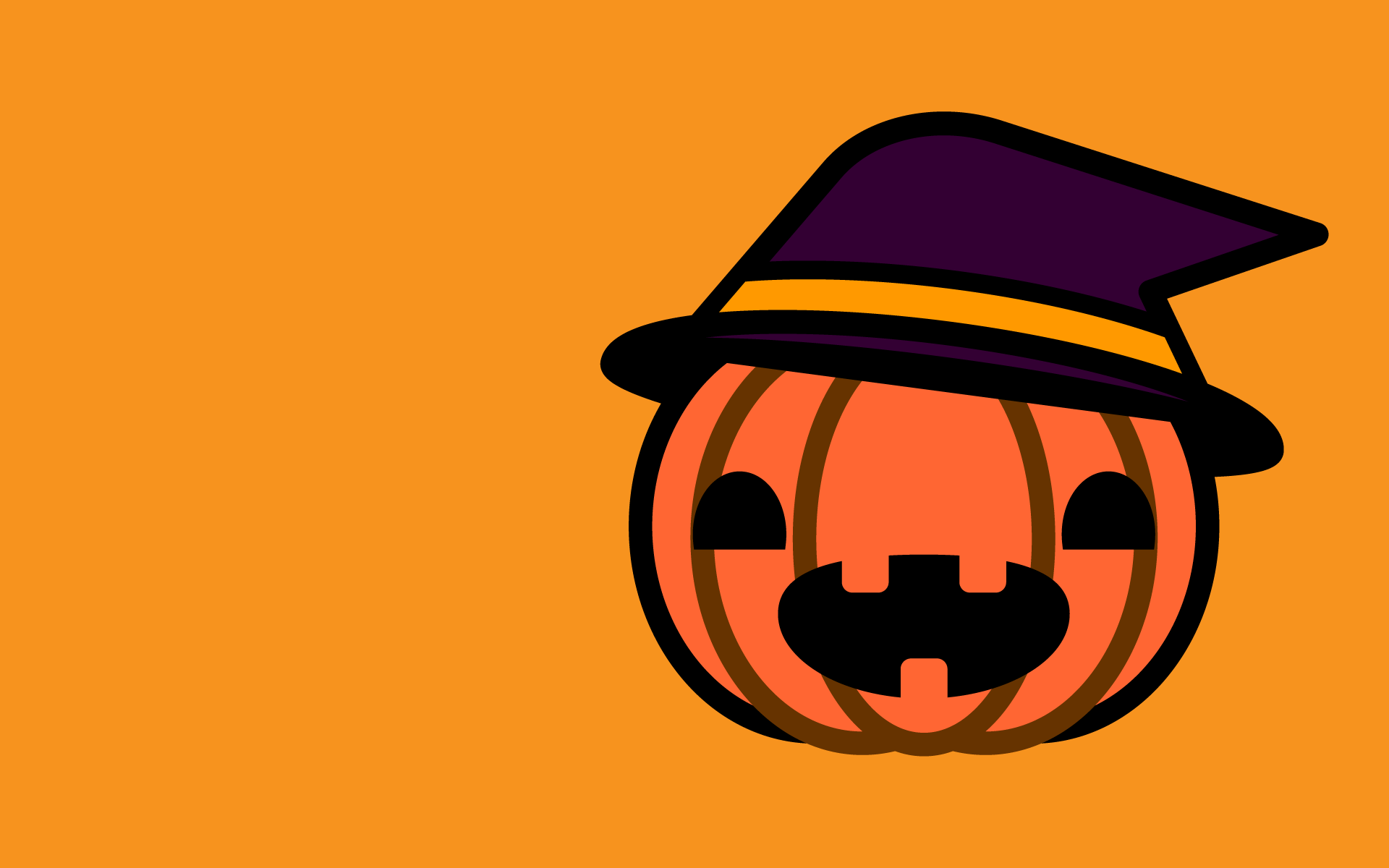 かわいいハロウィンかぼちゃ3壁紙(PC)の無料イラスト・商用フリー