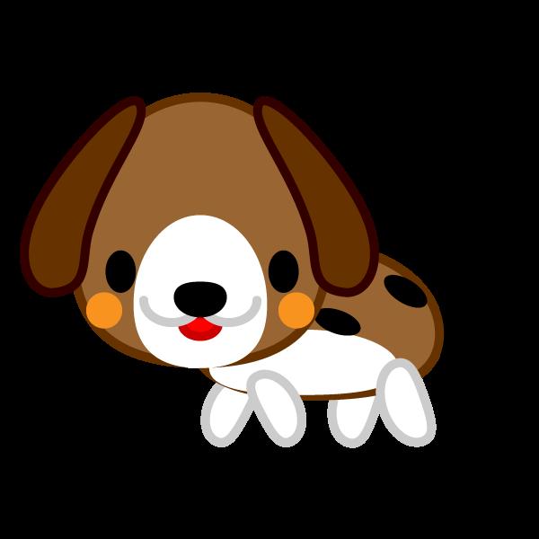 ソフトタッチでかわいいビーグル犬の無料イラスト・商用フリー