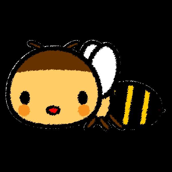 手書き風でかわいい蜜蜂の無料イラスト・商用フリー
