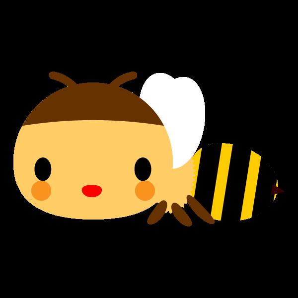 縁無しでかわいい蜜蜂の無料イラスト・商用フリー