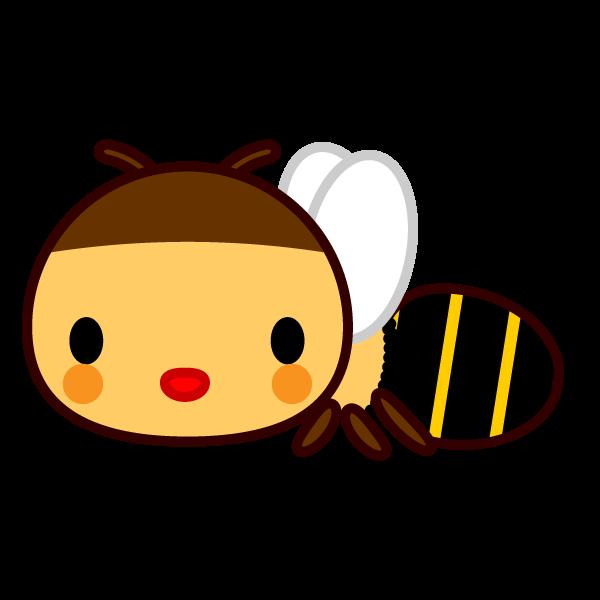 ソフトタッチでかわいい蜜蜂の無料イラスト・商用フリー