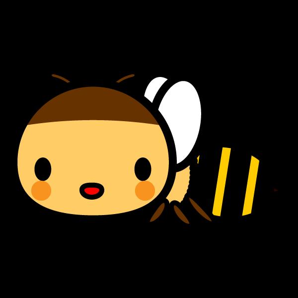 かわいい蜜蜂の無料イラスト・商用フリー