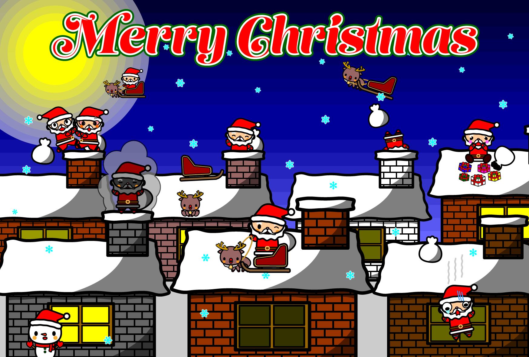 かわいいクリスマスカード・無料イラスト・商用フリー