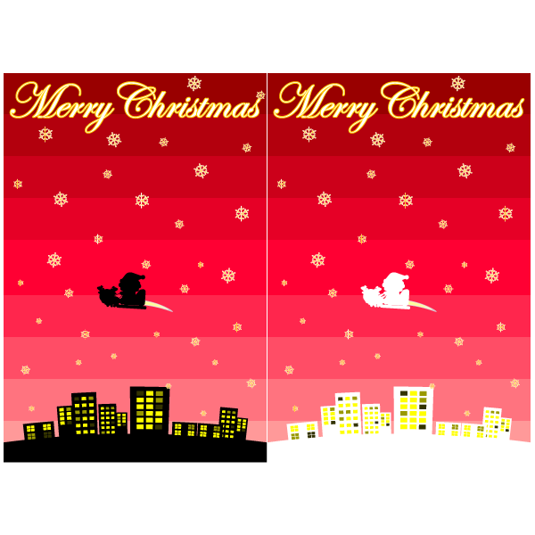 かわいいメリークリスマス03壁紙(PC)の無料イラスト・商用フリー