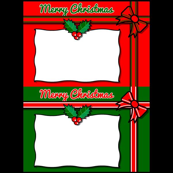 かわいいクリスマスメッセージカードの無料イラスト・商用フリー