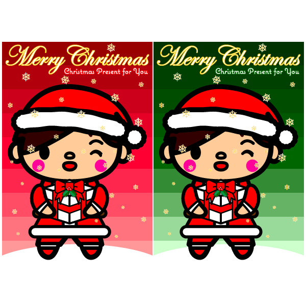 かわいいサンタ男子壁紙(Android)の無料イラスト・商用フリー