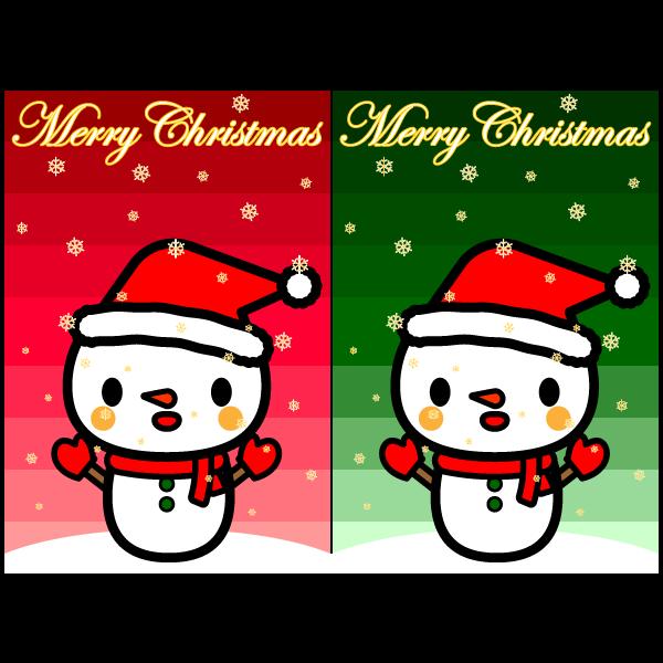 かわいいスノーマン(雪だるま)壁紙(Android)の無料イラスト・商用フリー