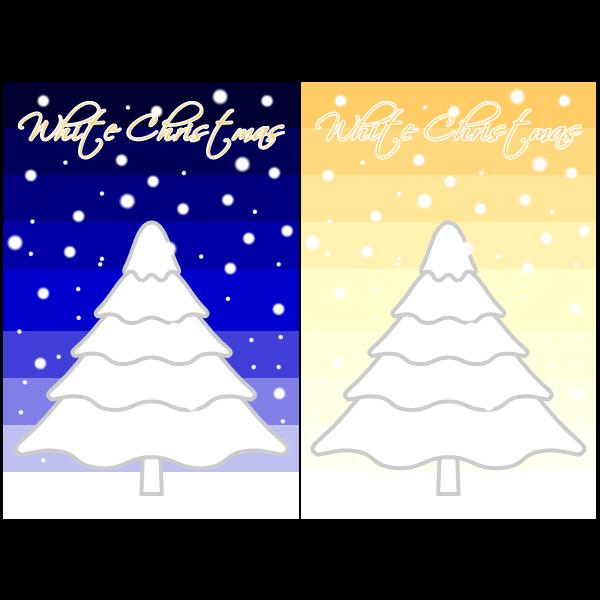 かわいいホワイトクリスマスカード・無料イラスト・商用フリー