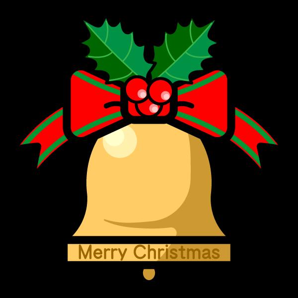 かわいいクリスマスベルの無料イラスト・商用フリー