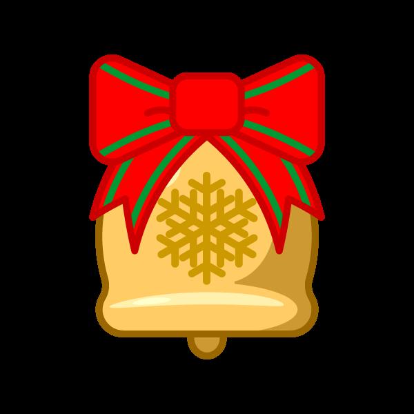 ソフトタッチでかわいいクリスマスベル2の無料イラスト・商用フリー