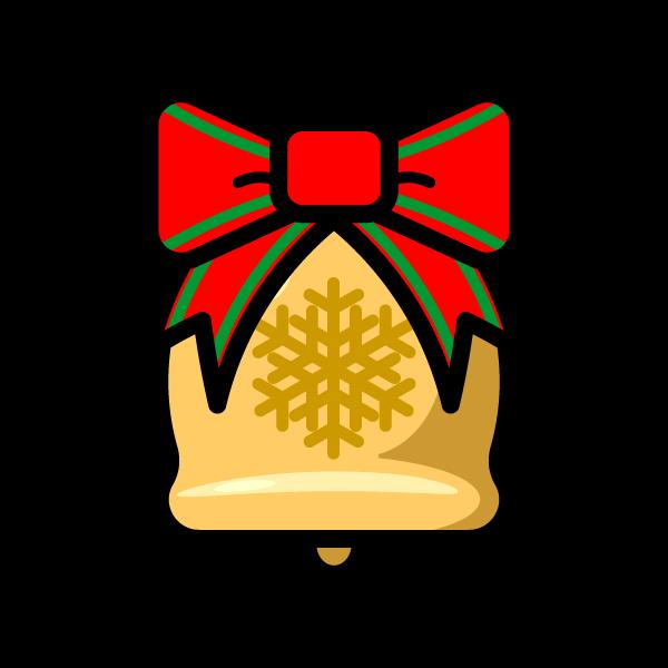 かわいいクリスマスベル2の無料イラスト・商用フリー