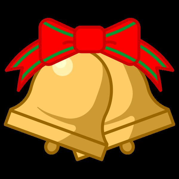ソフトタッチでかわいいクリスマスベル3の無料イラスト・商用フリー