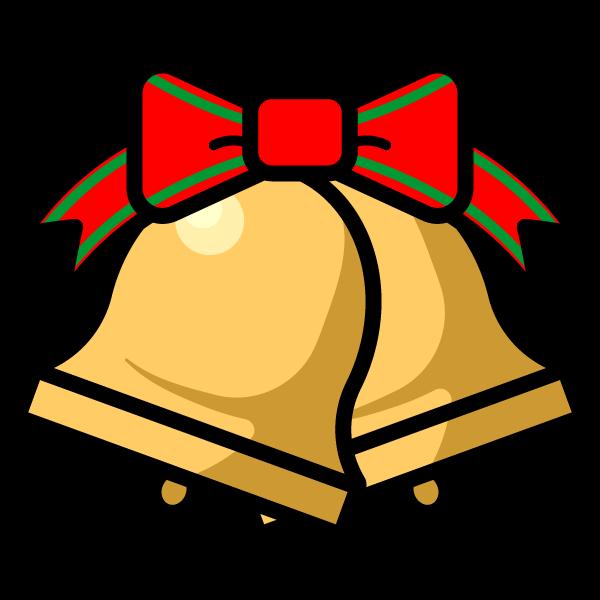 かわいいクリスマスベル3の無料イラスト・商用フリー