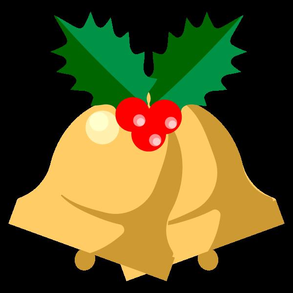 縁無しでかわいいクリスマスベル4の無料イラスト・商用フリー