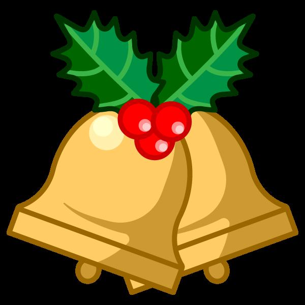 ソフトタッチでかわいいクリスマスベル4の無料イラスト・商用フリー