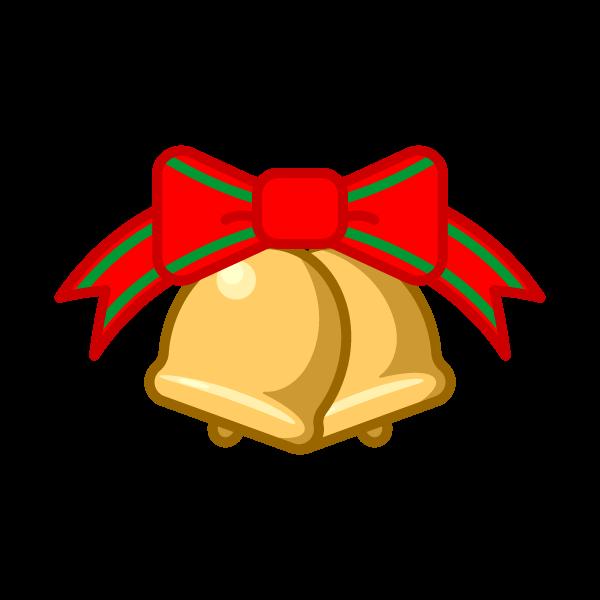 ソフトタッチでかわいいクリスマスベル5の無料イラスト・商用フリー