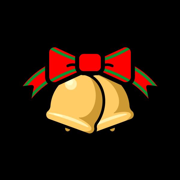 かわいいクリスマスベル5の無料イラスト・商用フリー