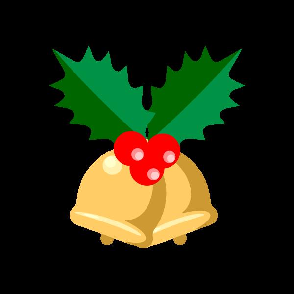 縁無しでかわいいクリスマスベル6の無料イラスト・商用フリー