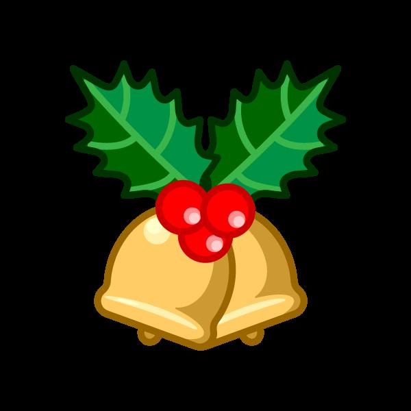 ソフトタッチでかわいいクリスマスベル6の無料イラスト・商用フリー