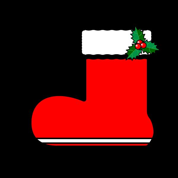 かわいいクリスマスプレゼントブーツ(長靴)の無料イラスト・商用フリー