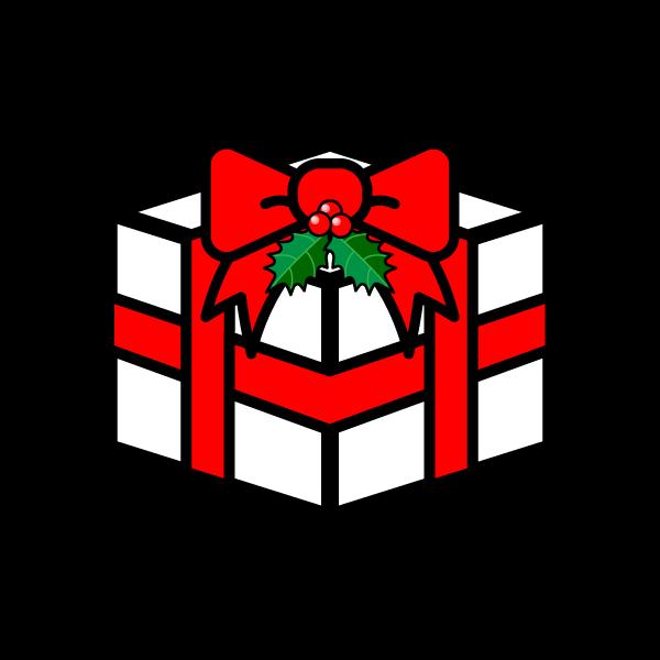 かわいいクリスマスプレゼントボックスの無料イラスト・商用フリー
