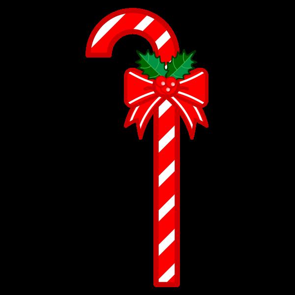 ソフトタッチでかわいいクリスマスステッキの無料イラスト・商用フリー