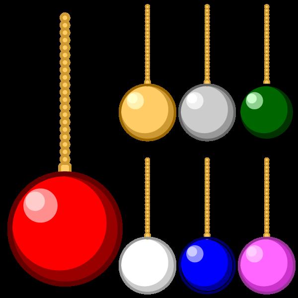 ソフトタッチでかわいいクリスマスオーナメント(飾り)ボールの無料イラスト・商用フリー