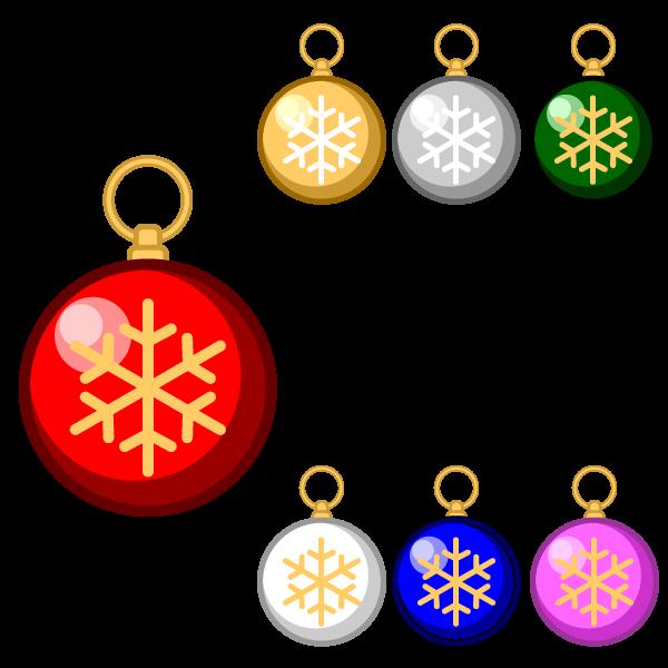 縁無しでかわいいクリスマスオーナメント(飾り)ボール2の無料