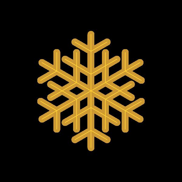 縁無しでかわいいクリスマスオーナメント(飾り)雪の結晶の無料イラスト・商用フリー