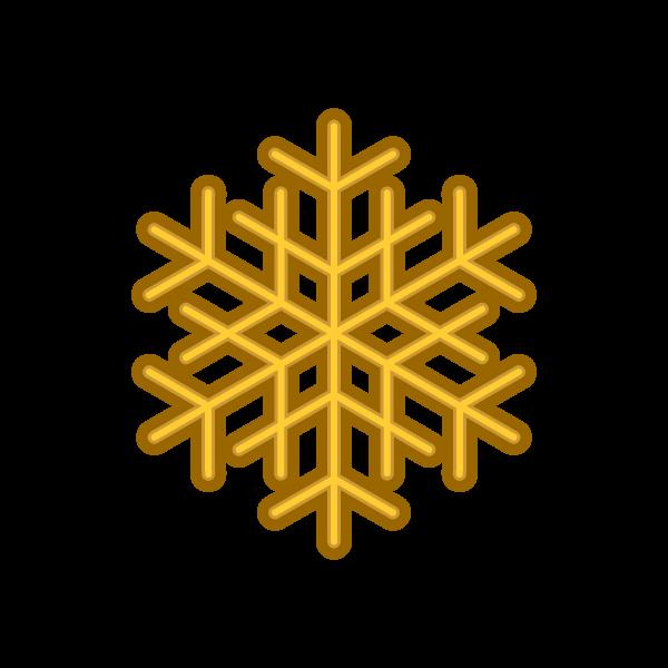 ソフトタッチでかわいいクリスマスオーナメント(飾り)雪の結晶の無料イラスト・商用フリー