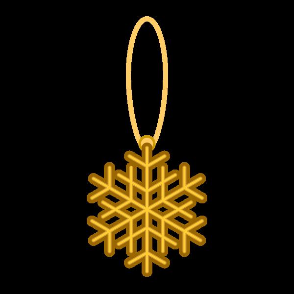 ソフトタッチでかわいいクリスマスオーナメント(飾り)雪の結晶2の無料イラスト・商用フリー